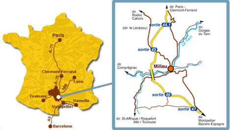 plan Millau France